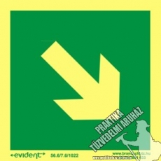EJ03 - Other security sign photoluminescent board, 2 mm thick, 150 x 150 mm
