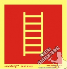 TB205/1 - Fire ladder photoluminescent board, 2 mm thick, 150 x 150 mm
