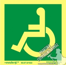 MM11/1 Escape direction for disabled persons photoluminescent board, 2 mm thick, 150 x 150 mm