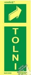 AM3/2 - Tolni- utánvilágító tábla, 2 mm vastag, 150x300mm