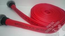 0024P - Tűzoltó szivattyú tömlő C52 piros, 15 bar