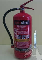 0006Ó Ogniochron 6 kg powder extinguisher ABC powderextinguisher 43A 233BC fire rating