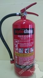 0006Q Ogniochron 6 kg powder extinguisher ABC powderextinguisher 34A 233BC fire rating