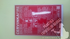 0136 – Cervinka 6 kg powder extinguisher label, powderextinguisher label
