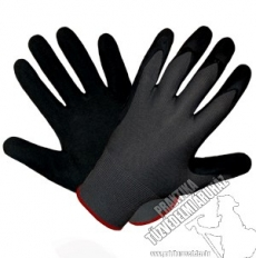 SR481- Dipped work safety gloves from flexible material, rough, wrinkled latex coating