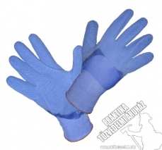 SR482 – Nylon, dipped, knitted work safety gloves with rough latex coating