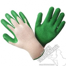 SR414- Dipped knitted gloves with wrinkled latex coating