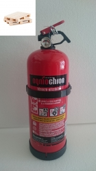 0222Ó Ogniochron Manometer 2 kg powder extinguisher ABC powderextinguisher 13A 89BC fire rating