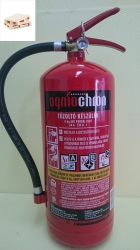 0666Q -Ogniochron 6 kg powder extinguisher ABC powderextinguisher 34A 233BC fire rating