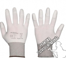 ARNYPUFIN - White safety gloves dipped in nylon fingertip