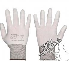ARNYPUFIN - Nylon ujjvégen mártott fehér munkavédelmi kesztyű