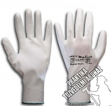 ARNYPUW - White nylon dipped mechanic gloves, work safety gloves