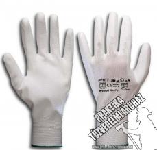ARNYPUW - Fehér nylon mártott szerelő kesztyű, munkavédelmi kesztyű