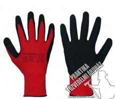ARWNYLB+R2 – Red polyester precision PU dipped gloves EN388