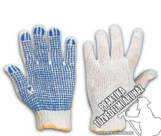 ARND400BLU – Work safety gloves, garden, coated with PVC dots