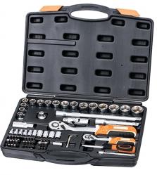 """SKROVA72 - 72 részes krovakészlet, 1/2"""" és 1/4"""" krova készlet, dugókulcs, dugó kulcs, szerszámkészlet, 72 db"""