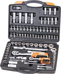 """SKROVA94 - 94 részes krovakészlet, 1/2"""" és 1/4"""" krova készlet, dugókulcs, dugó kulcs, szerszámkészlet, 94 db"""