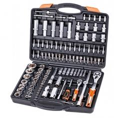 """SKROVA111 - 111 részes krovakészlet, 1/2"""" és 1/4"""" krova készlet, dugókulcs, dugó kulcs, szerszámkészlet, 111 db"""
