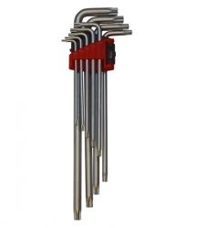 SIMBUSZ9- Allen key set, 9 elements, TORX ending