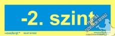 SZ03 - -2. szint utánvilágító tábla, 2 mm vastag, 240x75 mm